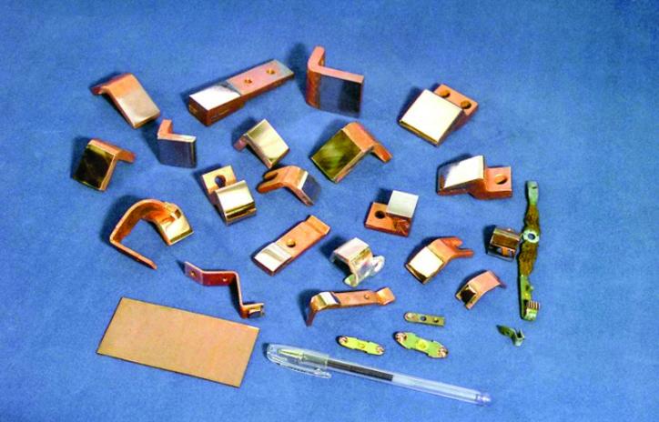 Rys. 5 Ogólny widok styków wykonanych z materiałów wytworzonych w technologii napylania próżniowego na bazie molibdenu